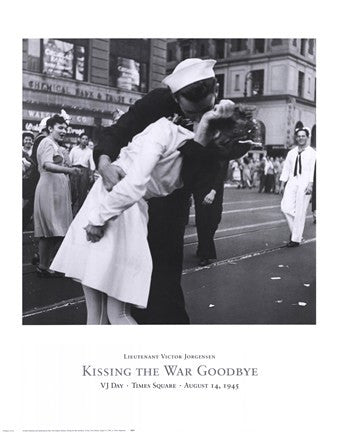 Kissing the War Goodbye Military Art Print - Star Spangled 1776
