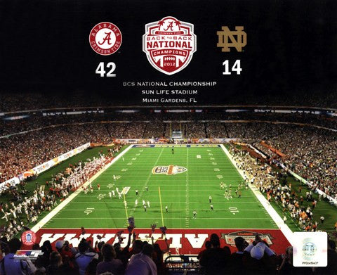2013 NCAA BCS National Championship Game 8 X 10 Print - Star Spangled 1776