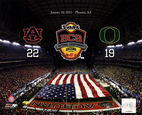 2011 NCAA BCS National Championship Game 8 X 10 Print - Star Spangled 1776