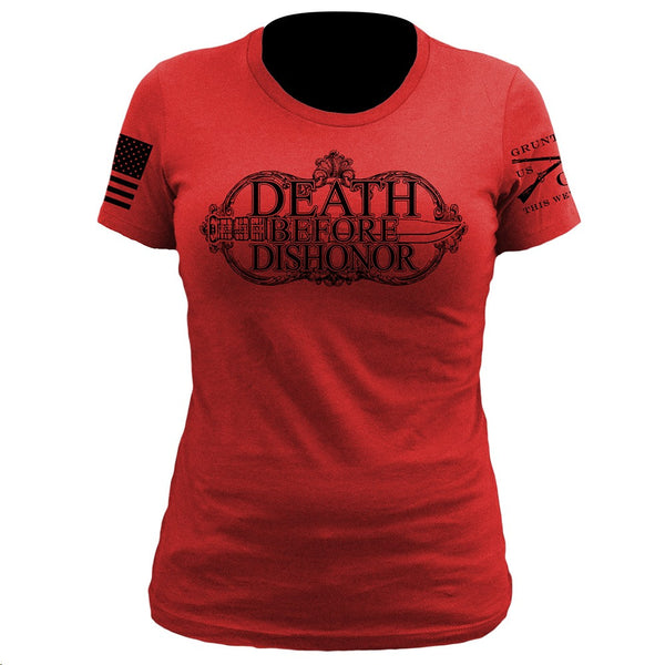 Death Before Dishonor T-Shirt- Grunt Style Women's Tee Shirt - Star Spangled 1776