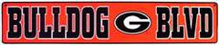 Georgia Bulldogs Metal NCAA 5 X 24 Street Sign