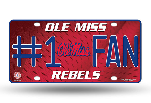 Ole Miss 6 X 12 #1 Fan NCAA License Plate - Star Spangled 1776