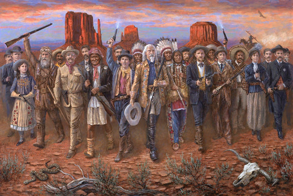 Wild Wild West Lithograph Print by Artist Jon McNaughton- 20 X 30 LE - Star Spangled 1776