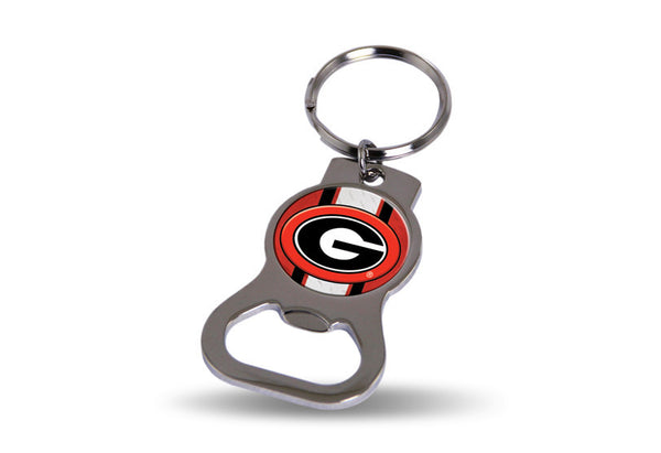 Georgia Bulldogs NCAA Bottle Opener Key Chain - Star Spangled 1776