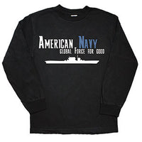 American Navy Long Sleeve Black Military T-Shirt - Star Spangled LLC