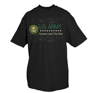 Rangers Lead The Way T-Shirt- Military Short Sleeve Tee Shirt - Star Spangled 1776
