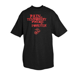 Pain is Temporary, Pride is Forever Marine Corps T-Shirt - Star Spangled 1776