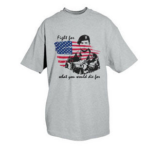 Pride T-Shirt- Patriotic Military White Short Sleeve Tee Shirt - Star Spangled 1776
