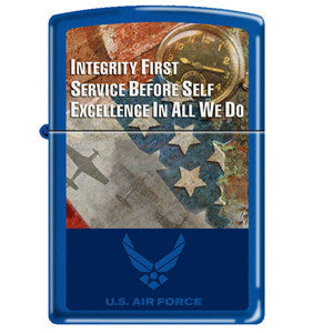 Air Force Integrity, Service, Excellence Zippo Lighter - Star Spangled 1776