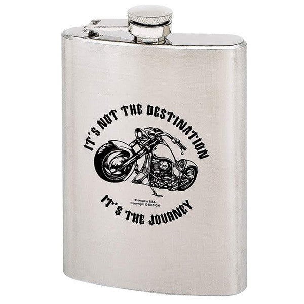 It's Not The Destination- 8 Oz. Stainless Steel Flask - Star Spangled 1776