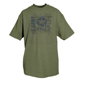 U.S. Army Vintage T-Shirt- OD Green Men's Short Sleeve Tee Shirt - Star Spangled LLC