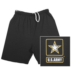 Army Military Branch Black Running Shorts - Star Spangled 1776