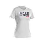 Women's White Under Armour TAC Support The Troops T-Shirt - Star Spangled 1776