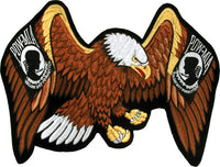 Eagle With POW Design Motorcycle Jacket Patch- 9 X 13 - Star Spangled LLC