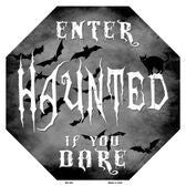 Haunted- Enter If You Dare Holiday Metal Sign - Star Spangled 1776
