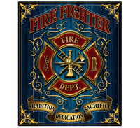 Fire Fighter 50 X 60 Fleece Throw Blanket - Star Spangled 1776