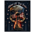 Home of the Free 50 X 60 Fleece Throw Blanket - Star Spangled 1776