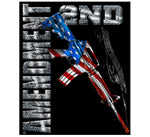 AR15 Second Amendment Flag 50 X 60 Fleece Throw Blanket - Star Spangled 1776