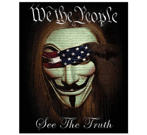 We The People See The Truth 50 X 60 Fleece Throw Blanket - Star Spangled 1776
