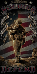 "American Soldier Military Beach Pool Bath Towel- 30"" x 60"""