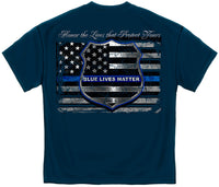 Law Enforcement T-Shirt Blue Lives Matter Navy - Star Spangled 1776 - 2