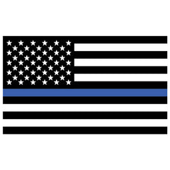 USA Thin Blue Line 3 X 5 Polyester Flag