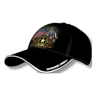 Army Double Flags Military Baseball Cap - Star Spangled 1776