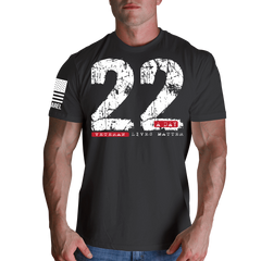 22 A Day T-Shirt- Nine Line Men's Charcoal Grey Military Tee Shirt