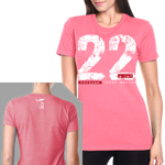 22 A Day T-Shirt- Nine Line Women's Pink Military Tee Shirt - Star Spangled 1776
