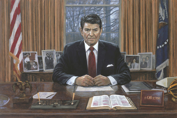 Ronald Reagan It Can Be Done Litho Print by Jon McNaughton - Star Spangled 1776