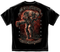 Military T-Shirt Soldier No One Get Left Behind Black - Star Spangled 1776