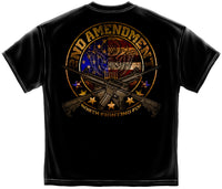 2nd Amendment Distressed Black T-Shirt - Star Spangled 1776