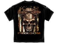 American Flag Freedom T-Shirt- Hick Life 100 Pct Cotton Black - Star Spangled 1776