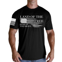 Home of the Brave T-Shirt- Nine Line Black Tee Shirt - Star Spangled 1776
