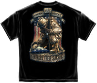 Honor Our Heroes T-Shirt- Black 100% Cotton Tee Shirt - Star Spangled 1776