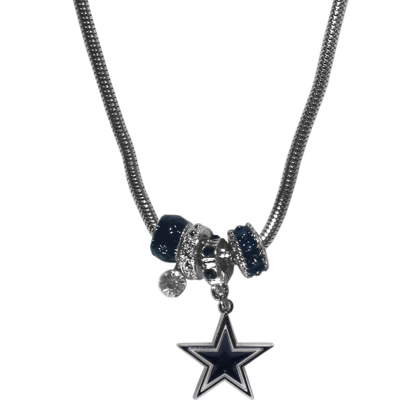 Dallas Cowboys Euro Bead Necklace - Star Spangled 1776