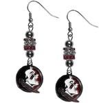 Florida St. Seminoles Euro Bead Earrings - Star Spangled 1776