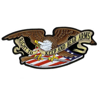 Right To Keep and Bear Arms Eagle Embroidered Patch