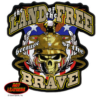 The Brave Embroidered Patch - Star Spangled 1776