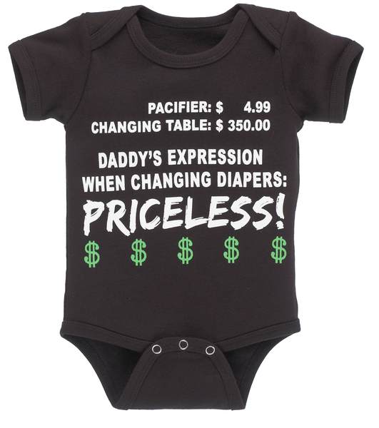 Priceless! Infant One Piece Diaper Shirt - Star Spangled 1776