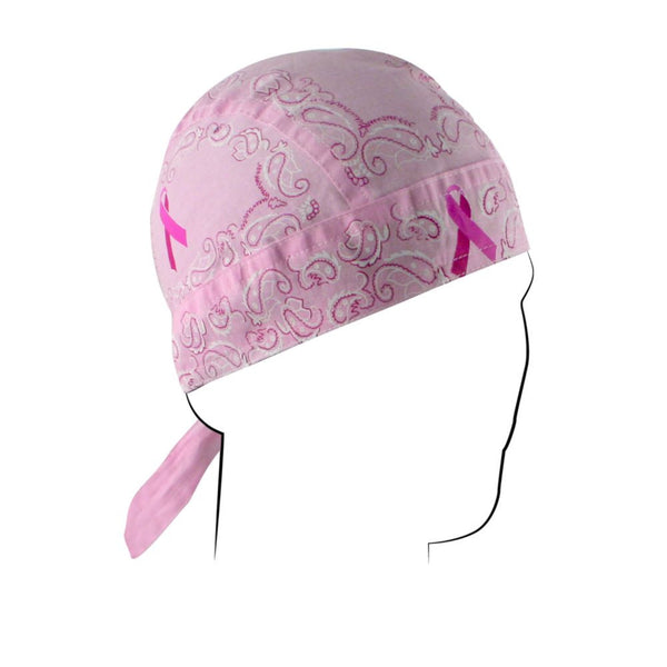 Breast Cancer Pink Ribbon Paisley Cotton Flydanna Bandanna - Star Spangled 1776