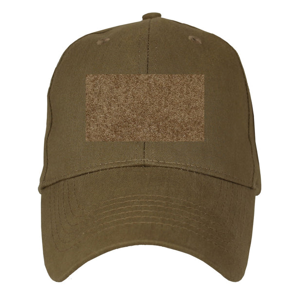 Hook and Loop Embroidered Military Baseball Cap- Coyote Brown - Star Spangled LLC