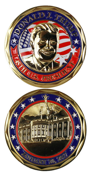 Donald Trump 45th President Challenge Coin - Star Spangled 1776