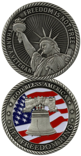 Freedom Is Not Free Challenge Coin - Star Spangled LLC