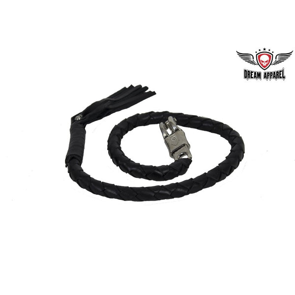 "Motorcycle Leather Get Back Whip 2"" X 42""- Black - Star Spangled LLC"