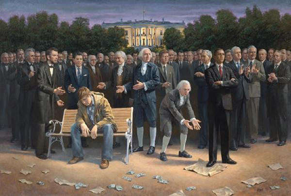 The Forgotten Man Framed Art Print by Jon McNaughton - Star Spangled LLC