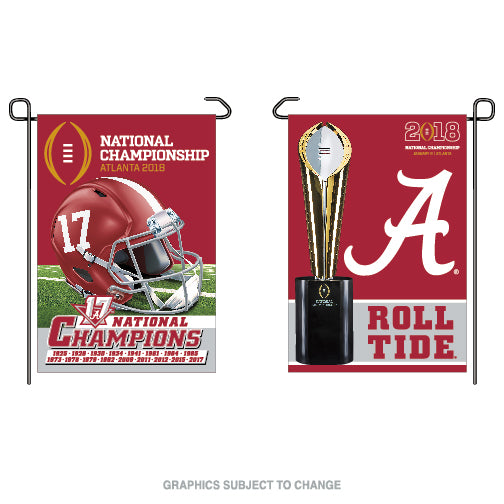 Alabama Crimson Tide National Champions Double Sided Garden Flag - Star Spangled LLC