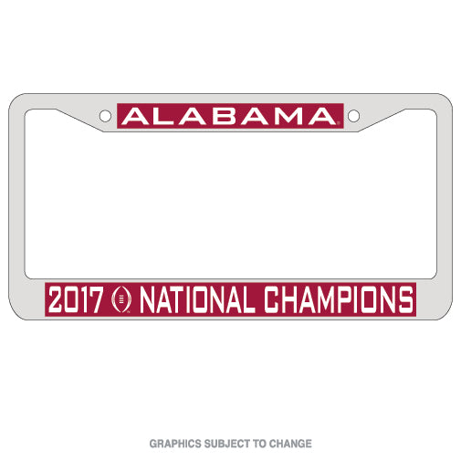 Alabama Crimson Tide National Champions Inlaid Metal License Plate Frame - Star Spangled LLC