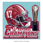 Alabama Crimson Tide National Champions Perfect Cut Decal 8 x 8 In - Star Spangled LLC