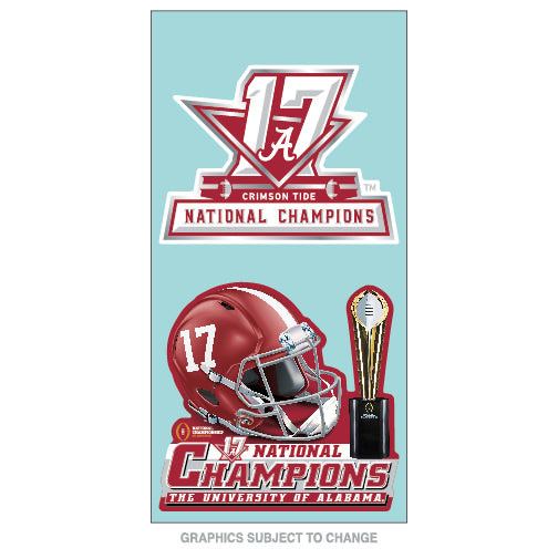 Alabama Crimson Tide National Champions Perfect Cut Decal Set of 2  4 x 4 Inch - Star Spangled LLC
